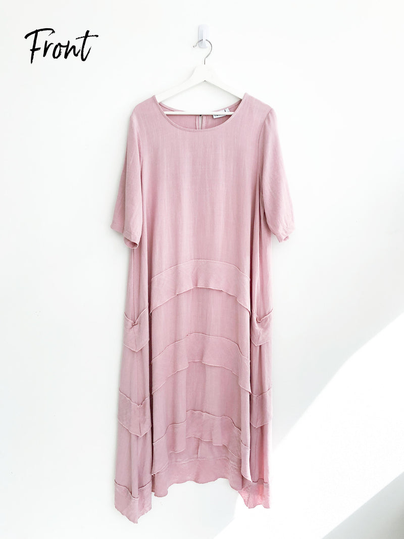 BLUSH ESCAPE MAXI DRESS