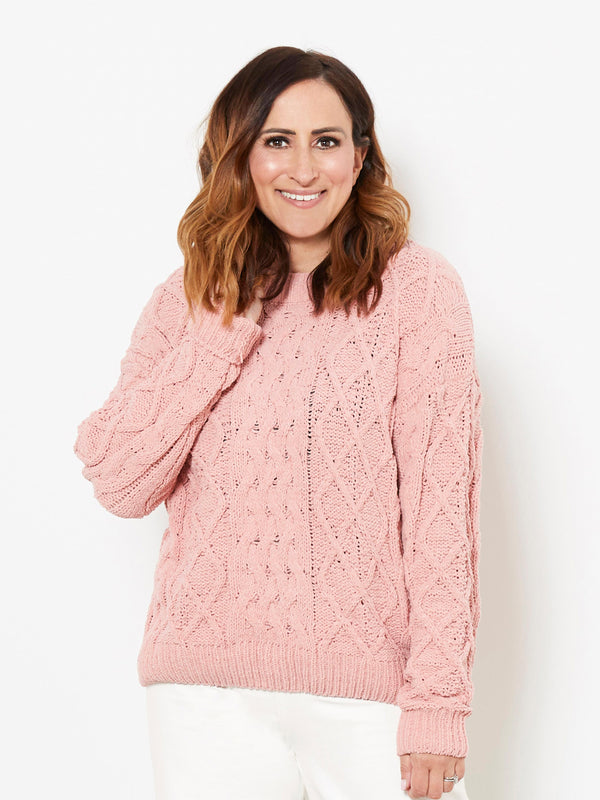 BLUSHING FOR YOU PINK KNIT