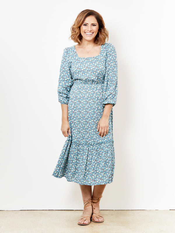 BOTANIC BEAUTY TEAL FLORAL DRESS