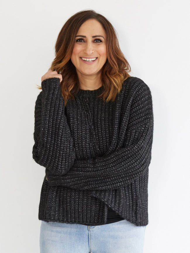 COSY DAYS CHARCOAL KNIT