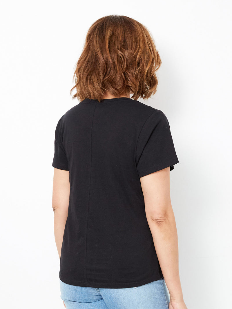 ALL DAY EVERYDAY BLACK TEE