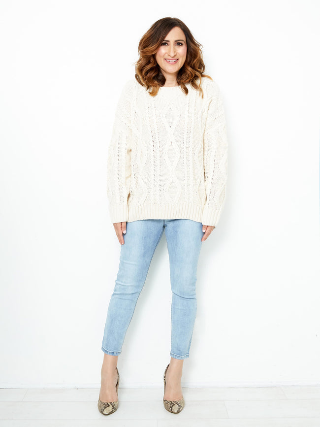COSY TIME CREAM KNIT