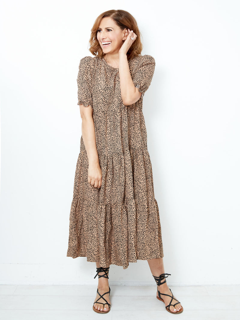 DEEP AFFECTIONS PRINTED DRESS