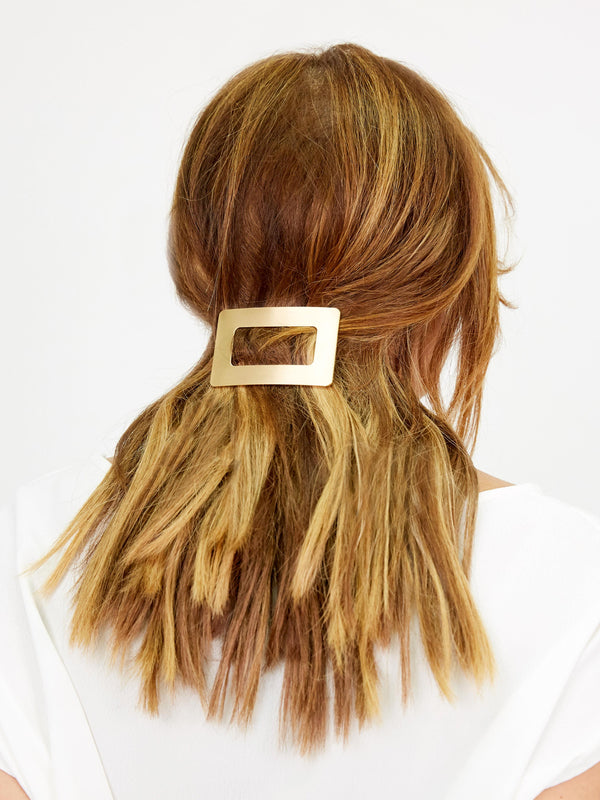 DOUBLE DREAMING GOLD HAIR CLIP