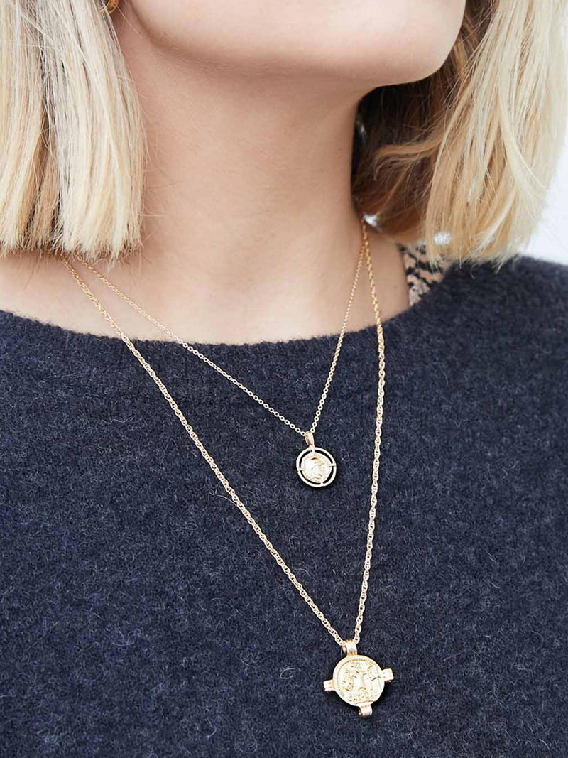DOUBLE LAYER LOVE GOLD NECKLACE