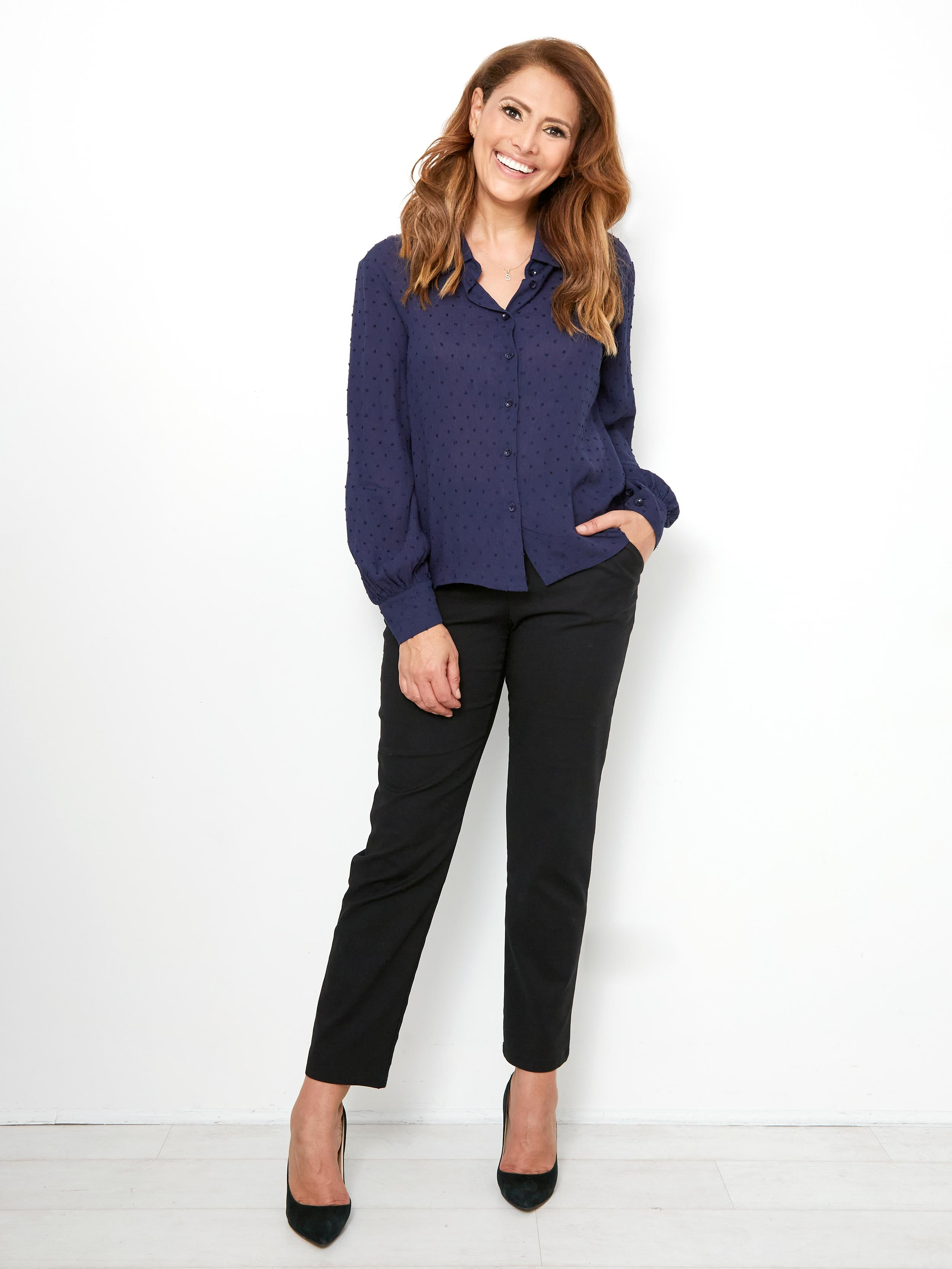ELEMENTS OF LOVE NAVY BLOUSE