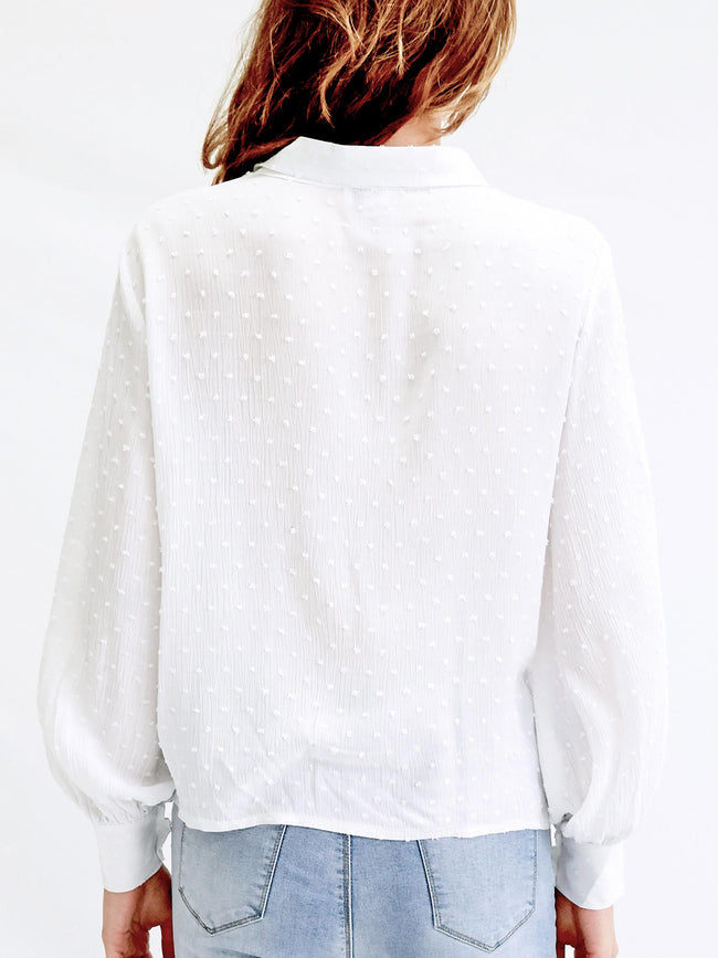 ELEMENTS OF LOVE WHITE BLOUSE