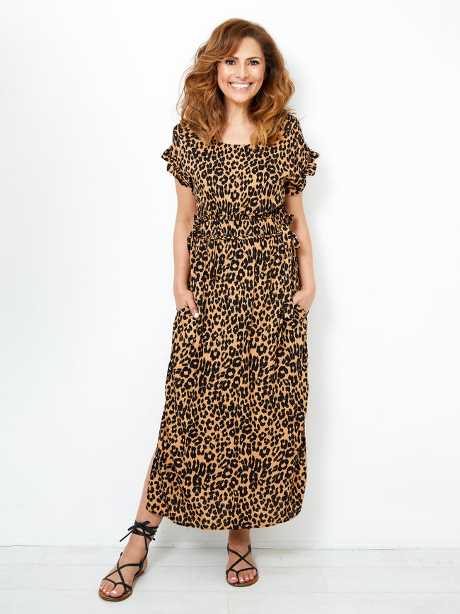 ENDLESS MEMORIES LEOPARD PRINT DRESS