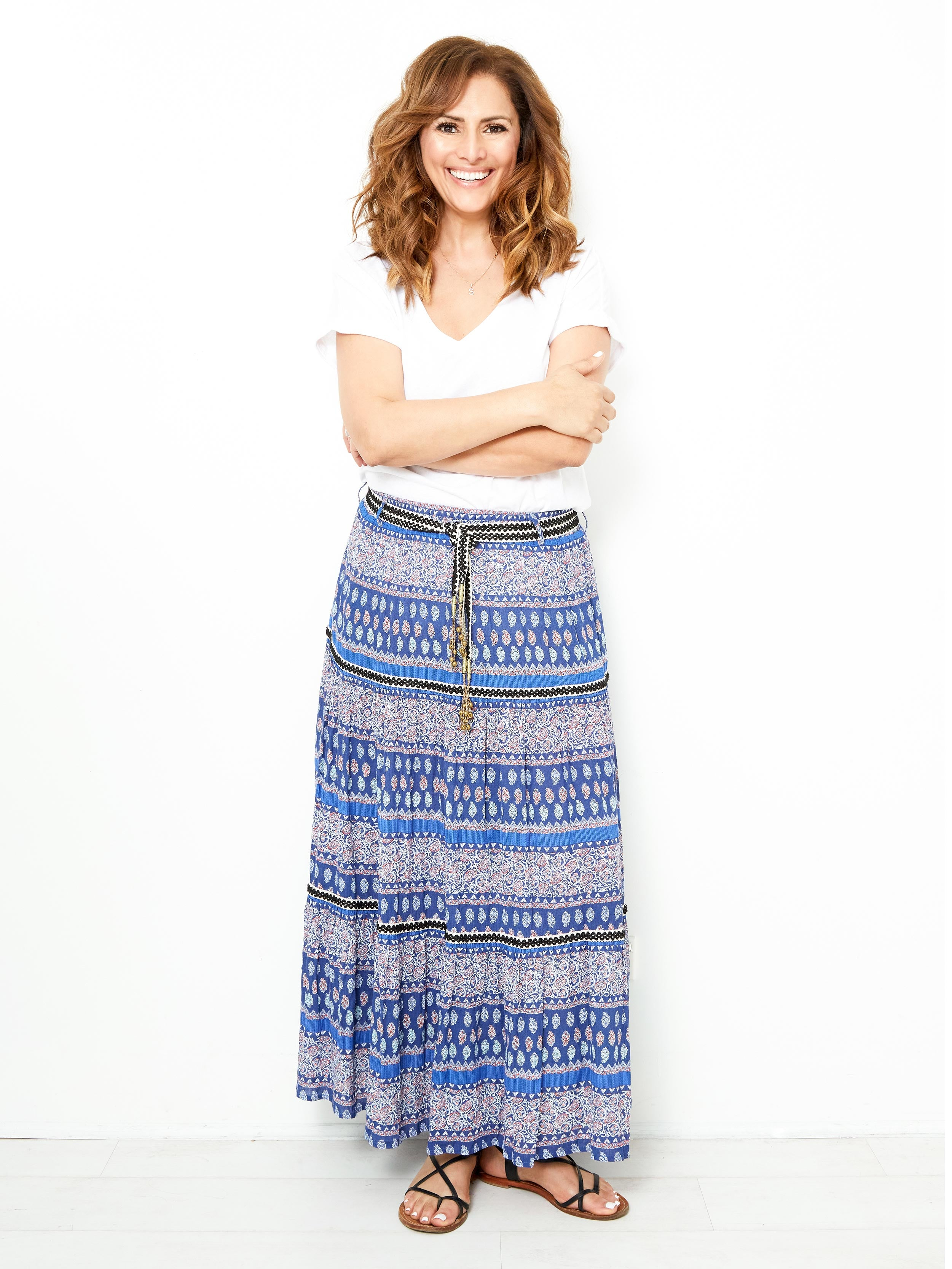 ETERNAL LIGHT BOHO MAXI SKIRT