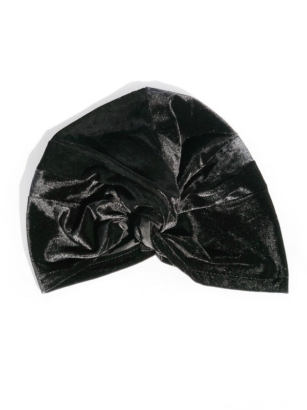 EVERYDAY GLAMOUR BLACK VELVET TURBAN
