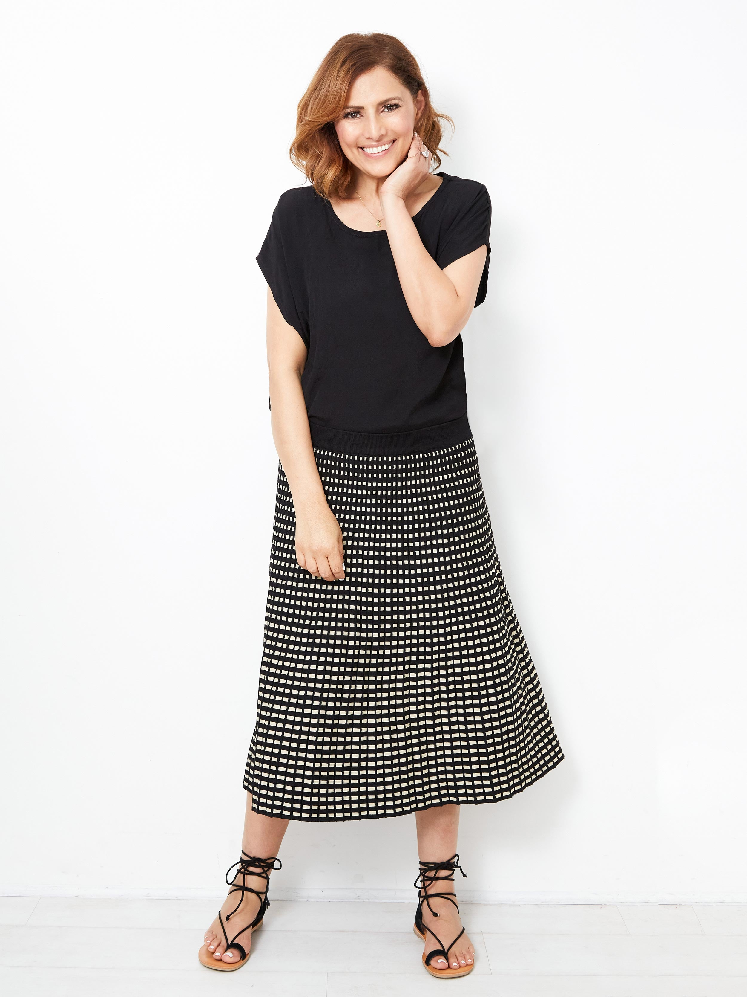 EYES ON YOU A-LINE SKIRT