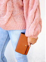 KOA CLUTCH IN TAN