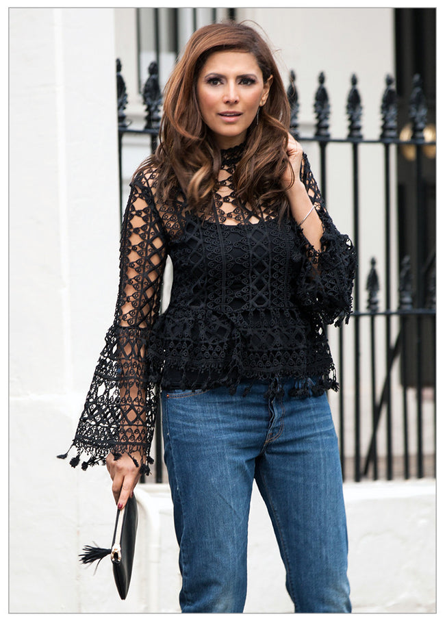 FLORENCE BELL SLEEVE LACE TOP