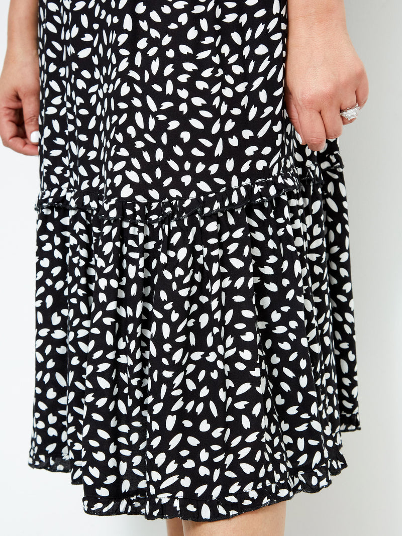 FEEL THE BREEZE PRINTED DRESS