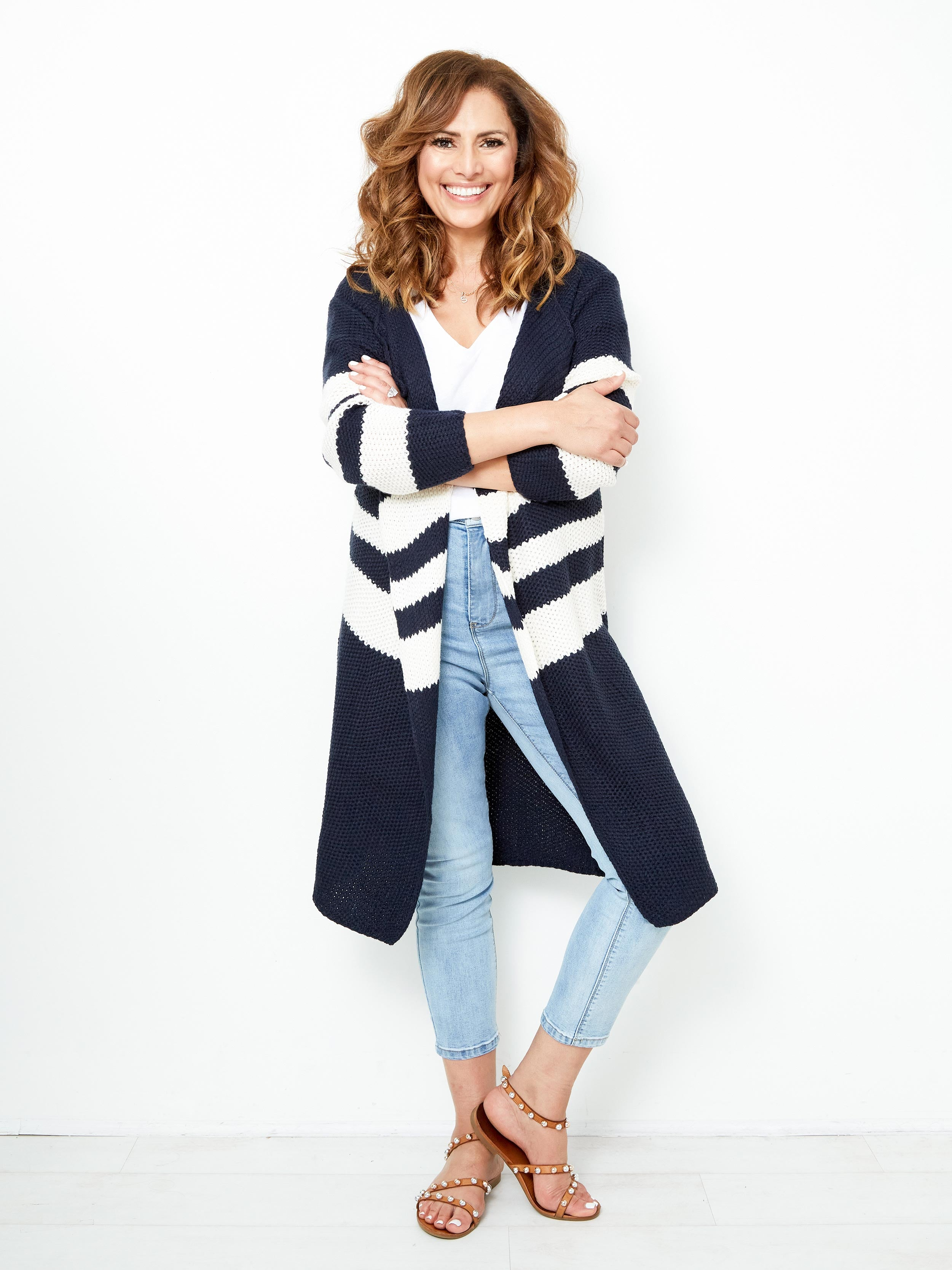 FOREVER MY LOVE NAVY CARDIGAN