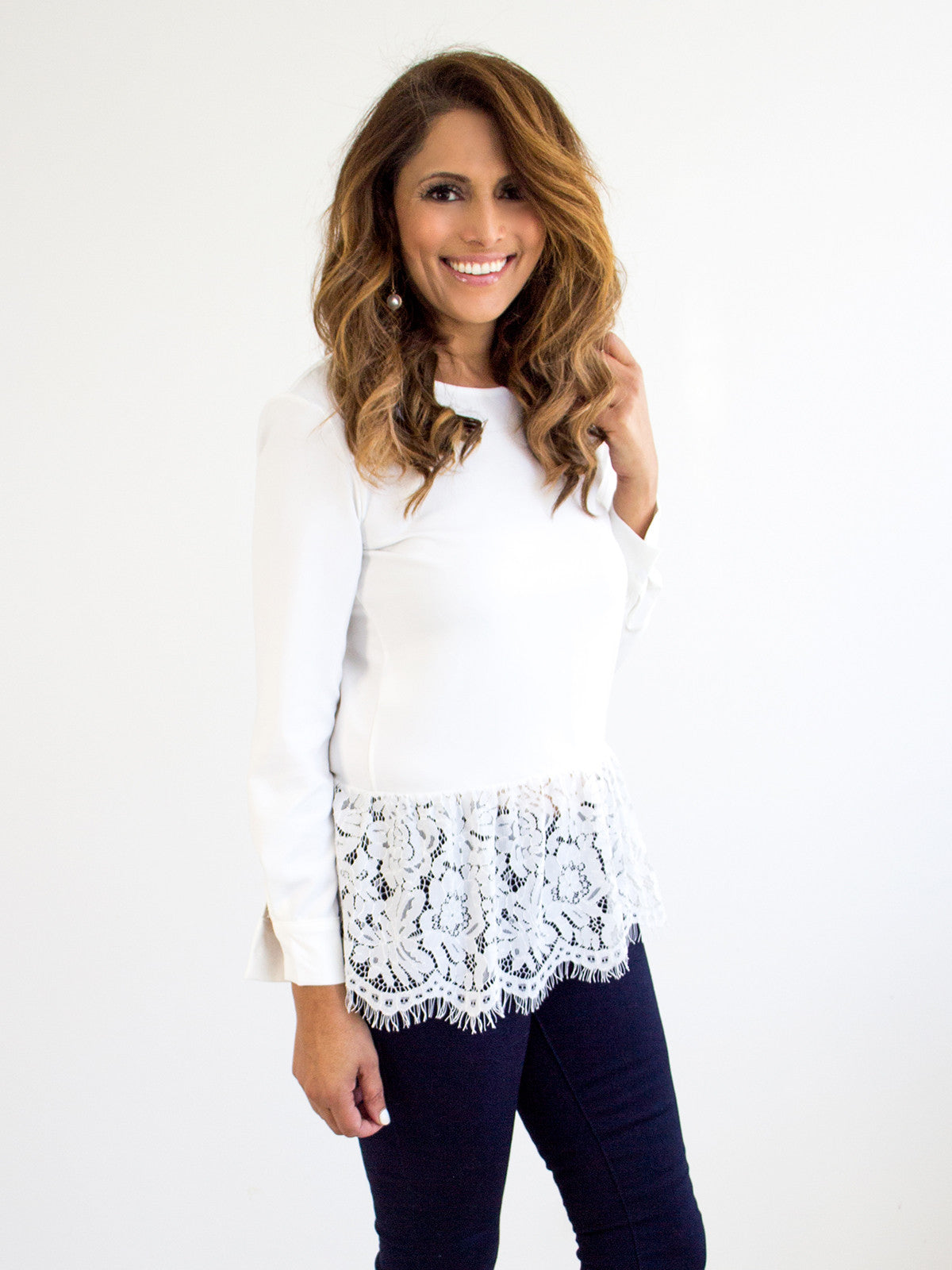 GRACE OF LACE WHITE BLOUSE