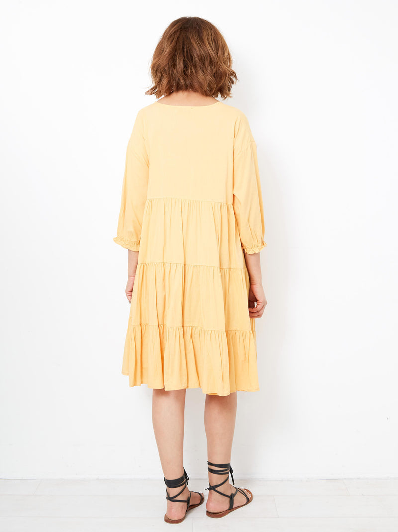 GLOWING STATE YELLOW DRESS