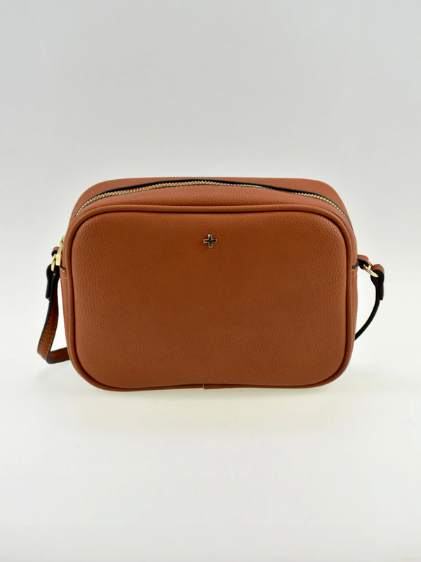GRACIE CROSS BODY BAG IN TAN PEBBLE