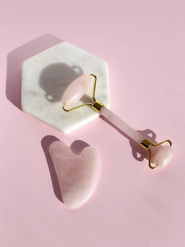 ROSE QUARTZ FACE ROLLER