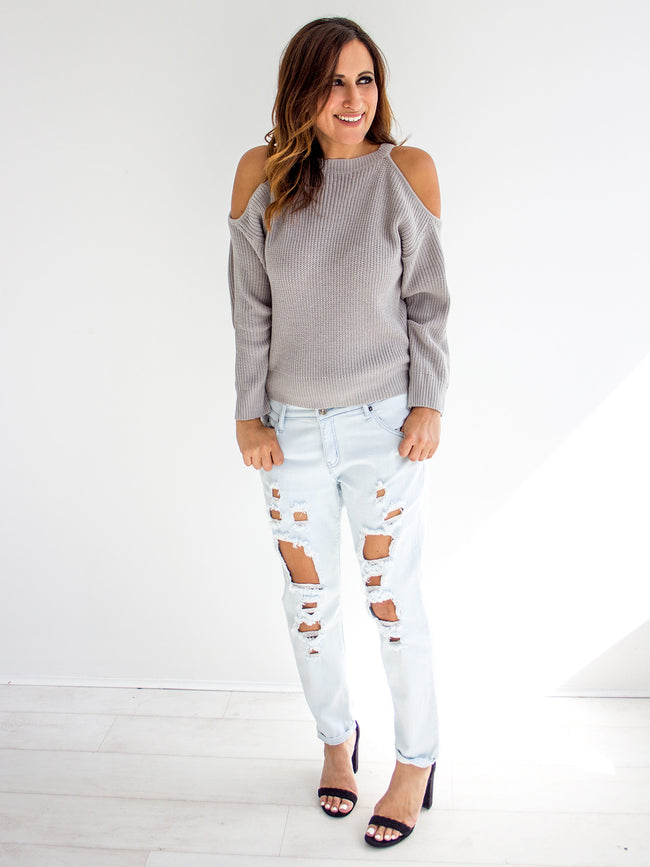 HARPER COLD SHOULDER JUMPER