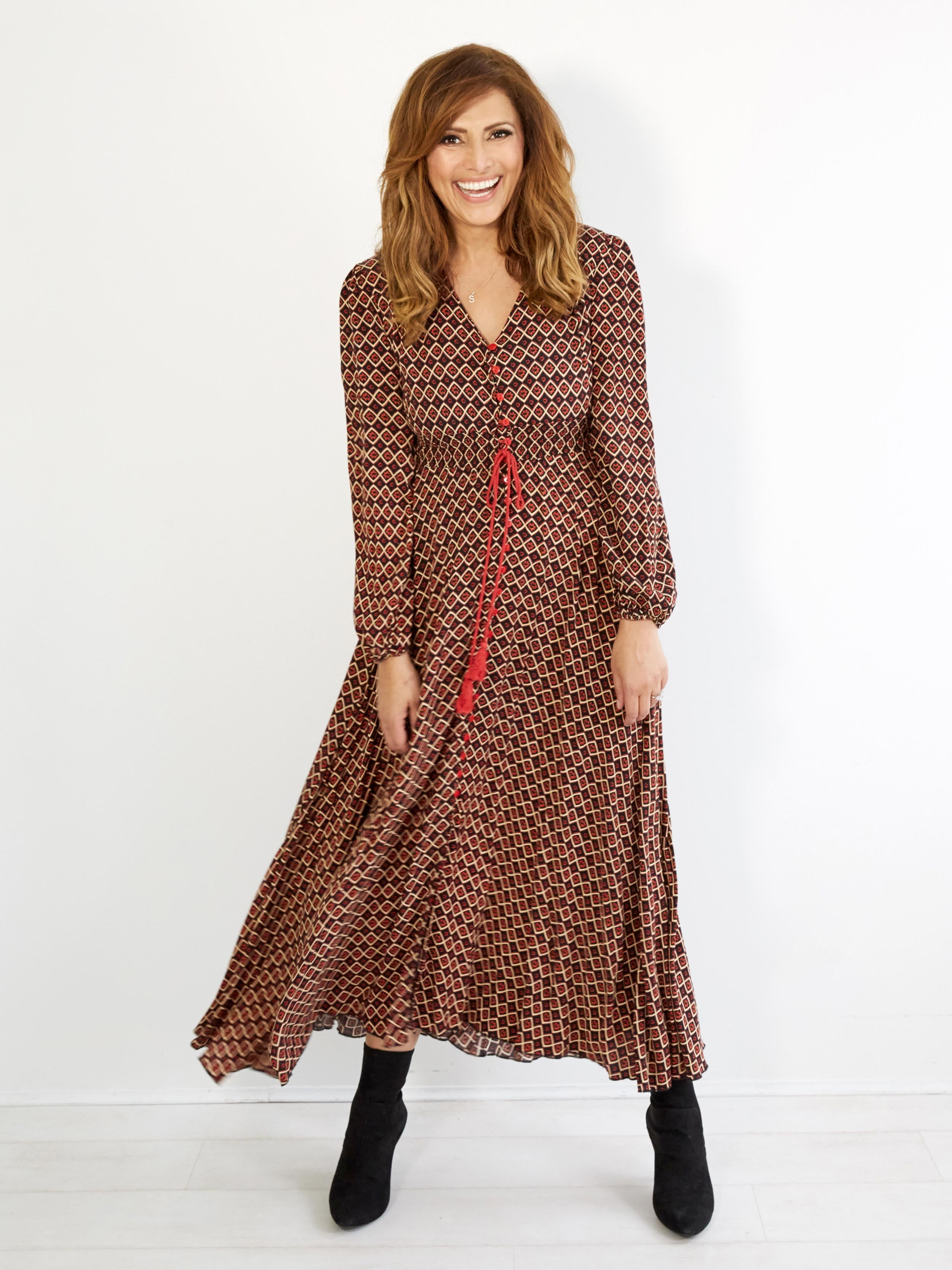 HEARTS OF PARIS BOHO MAXI DRESS