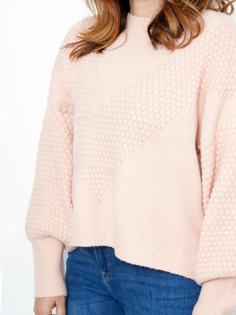 HERE FOR LOVE PINK KNIT