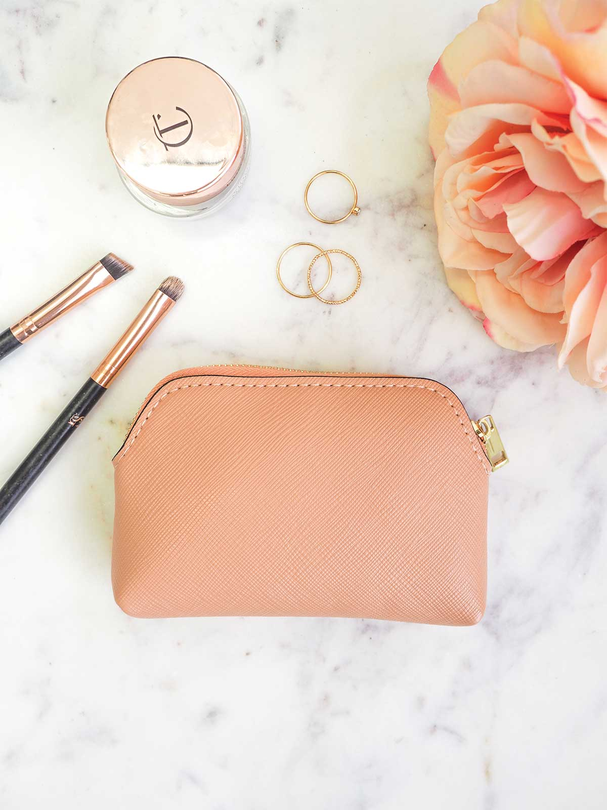 THE ESSENTIAL ZIP POUCH - BLUSH