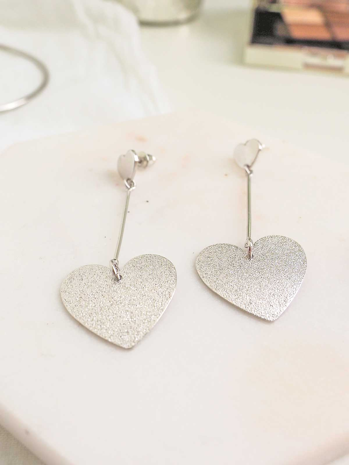 HEART OF MINE SILVER EARRINGS