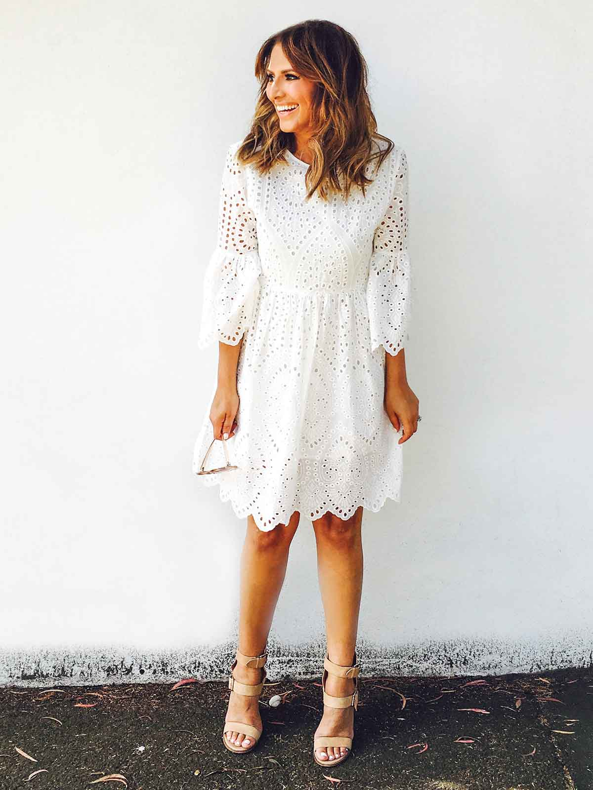 LOVE LETTERS BRODERIE DRESS