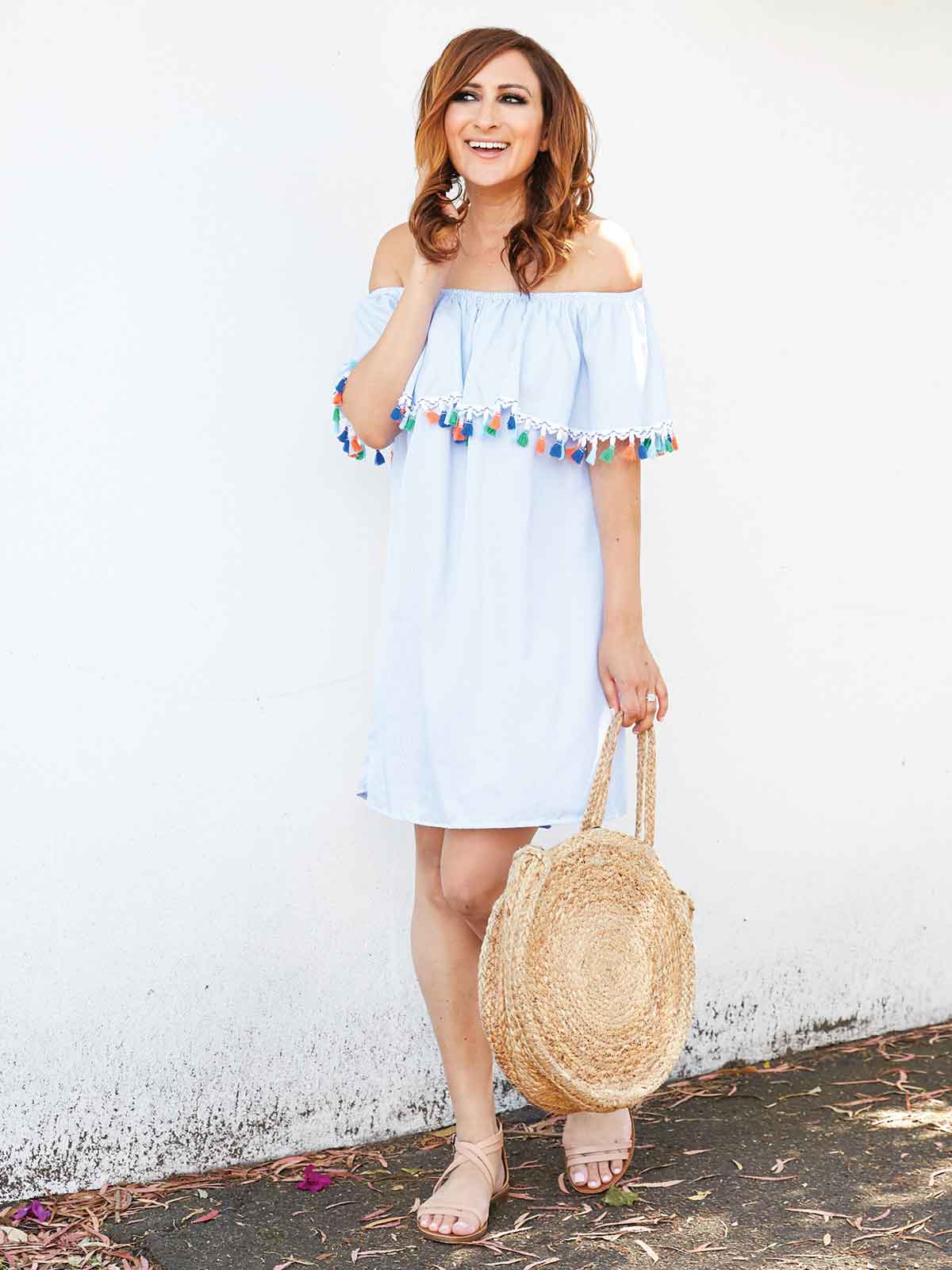 DAYDREAMER TASSEL DETAIL DRESS