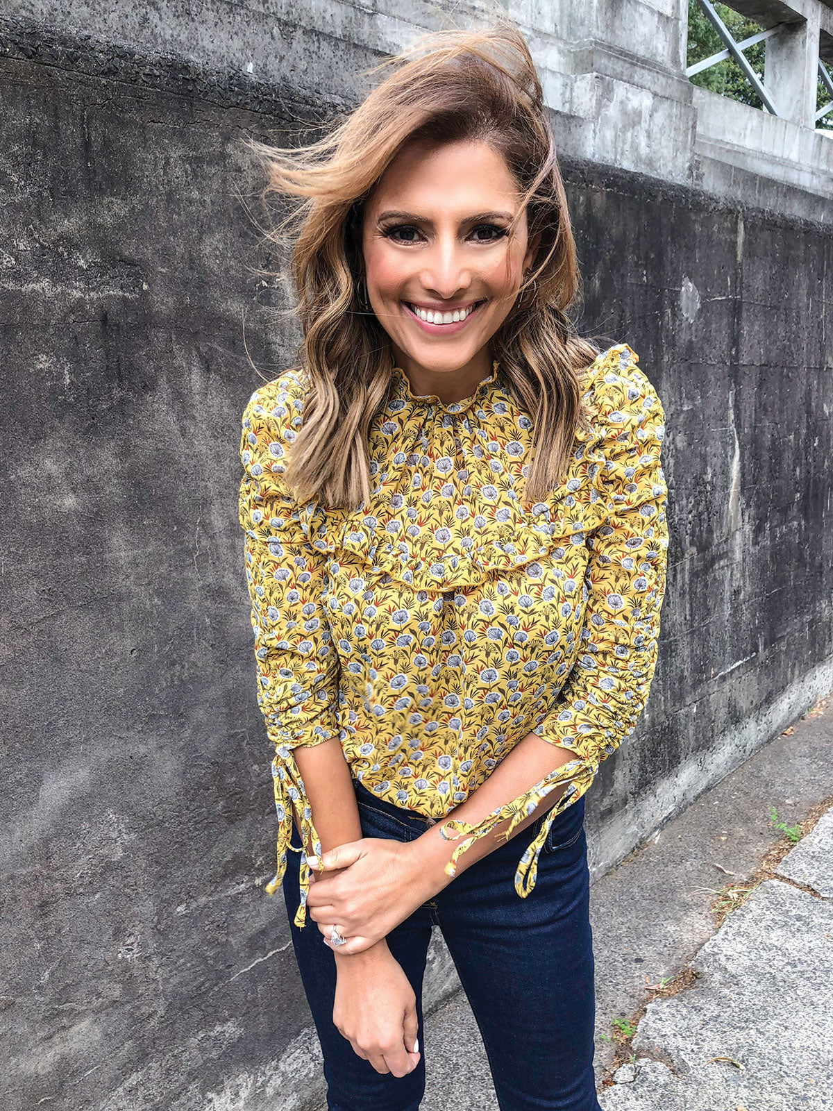 HEART OF GOLD LUXE BLOUSE