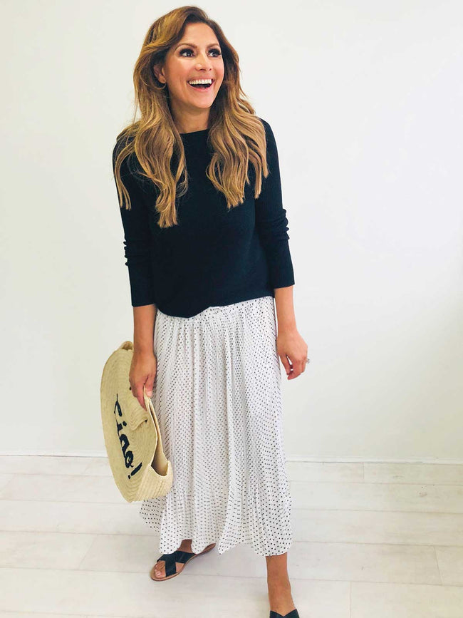 CITY OF STARS PLEATED SKIRT