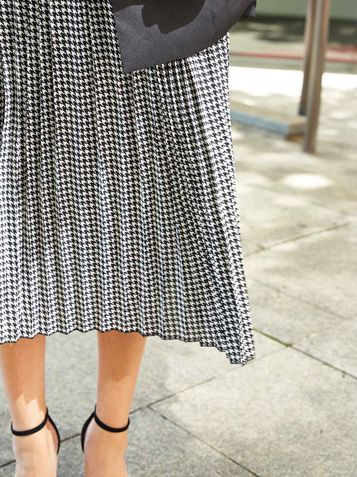 LETTERS FROM PARIS CHECKED SKIRT