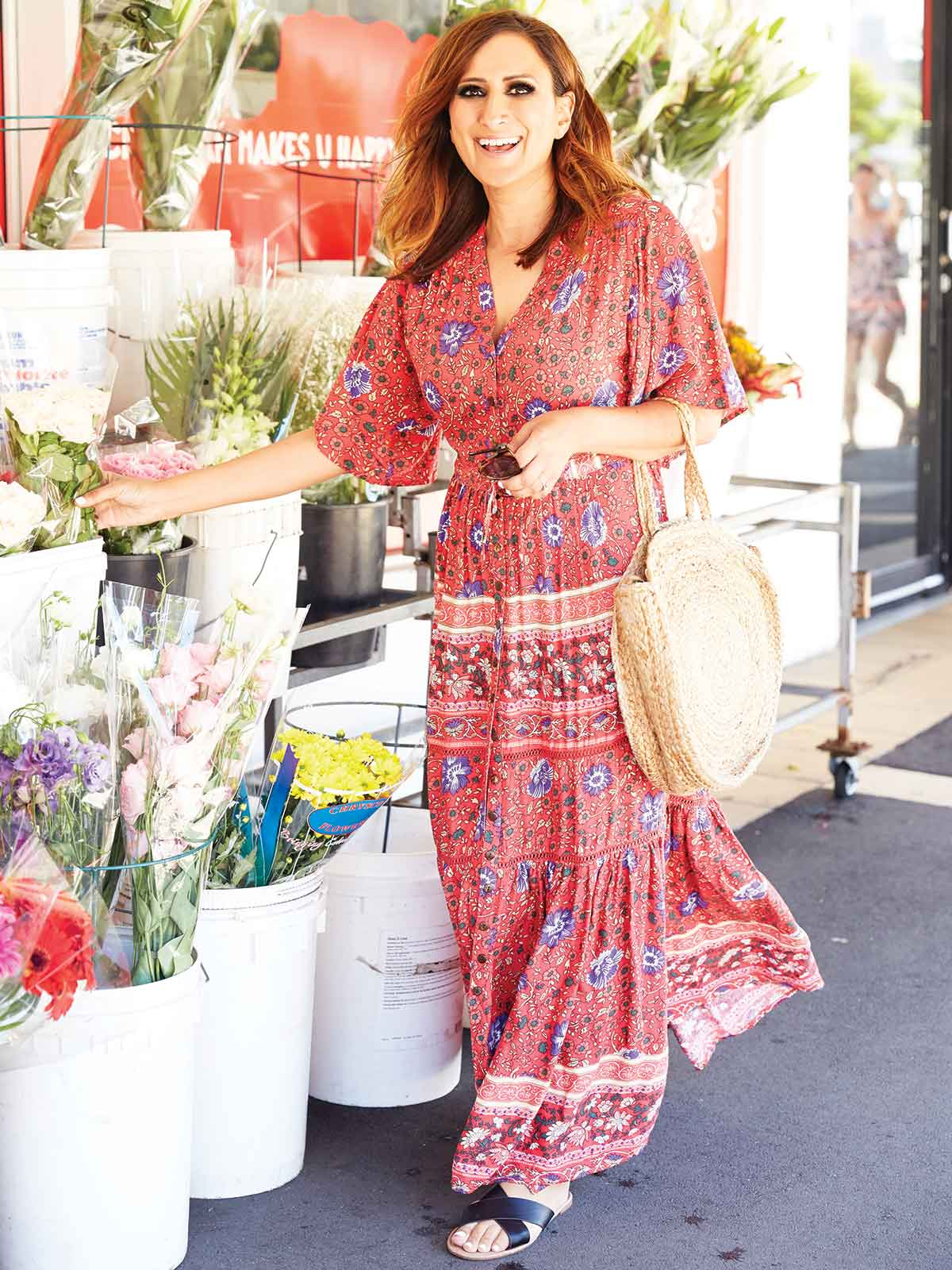 BONFIRE HEART FLORAL MAXI DRESS