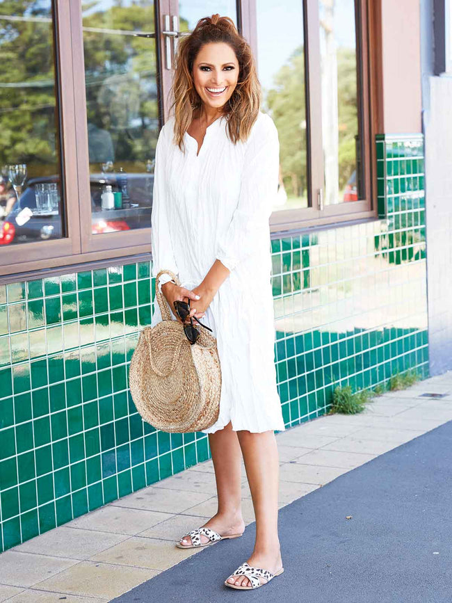 BOHO VIBES WHITE DRESS