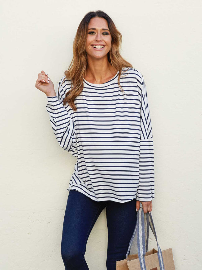LOVE AT FIRST STRIPE ULTRA SOFT TEE