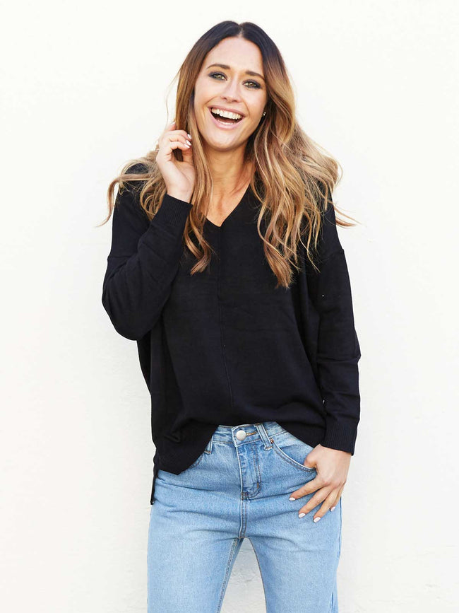 WITH LOVE SUPER SOFT EVERYDAY KNIT - BLACK
