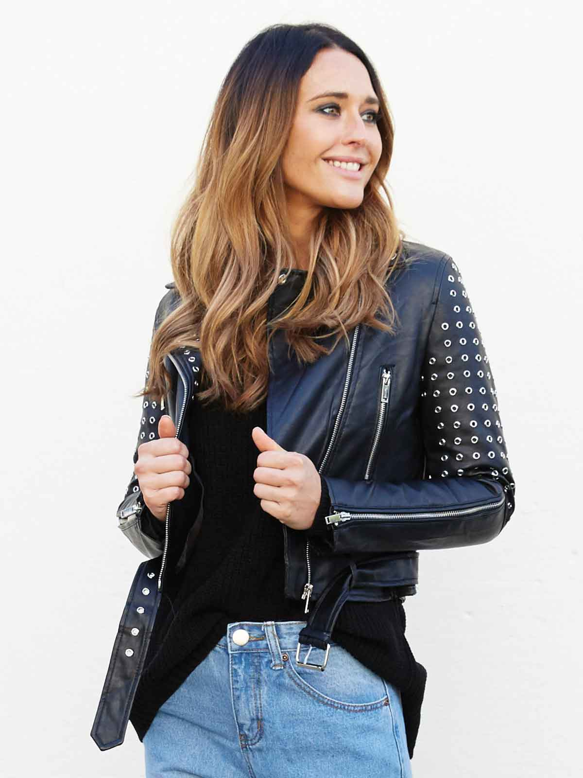 NIGHT MOVES STUDDED JACKET