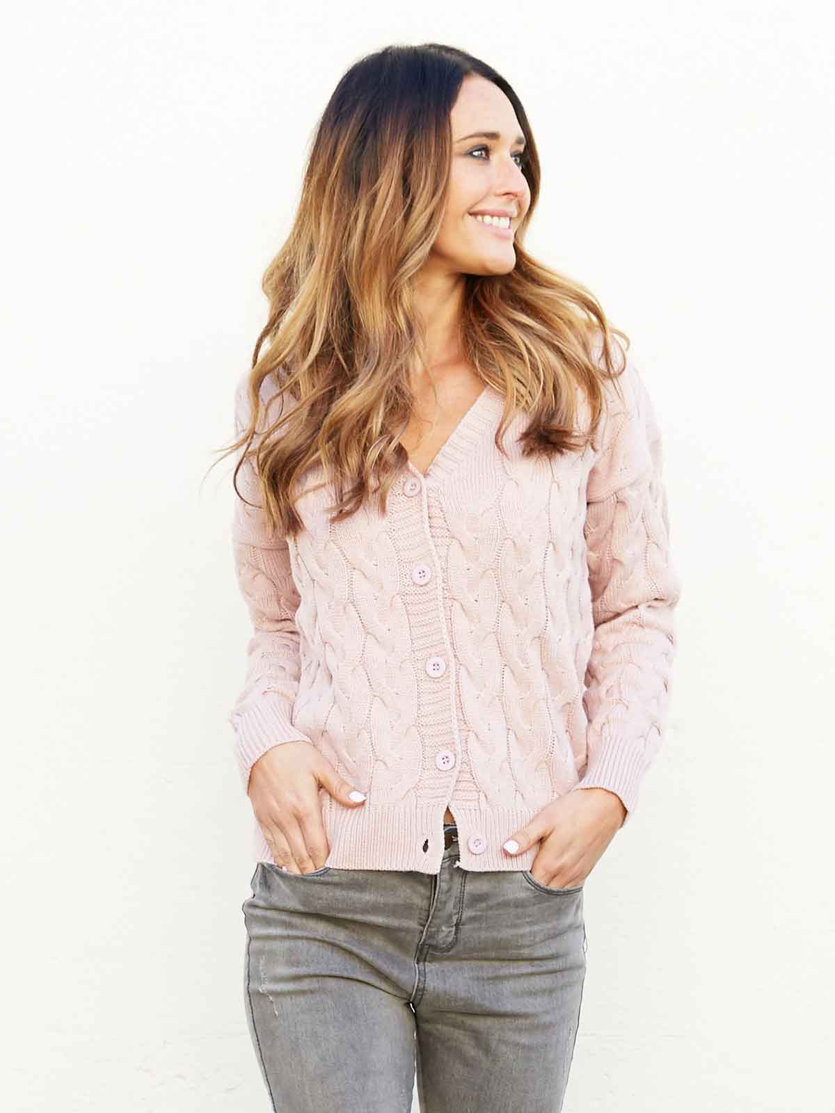 ALL MY HEART CARDIGAN - BLUSH PINK