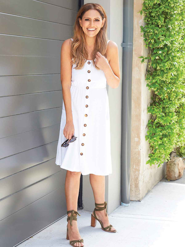 FLIRTING IN FLORENCE WHITE DRESS