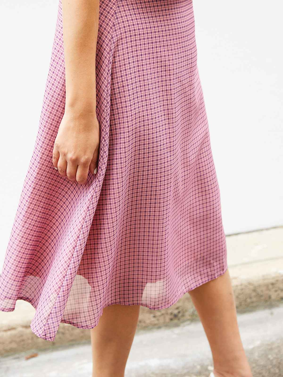 I'M BLUSHING PINK CHECK SKIRT