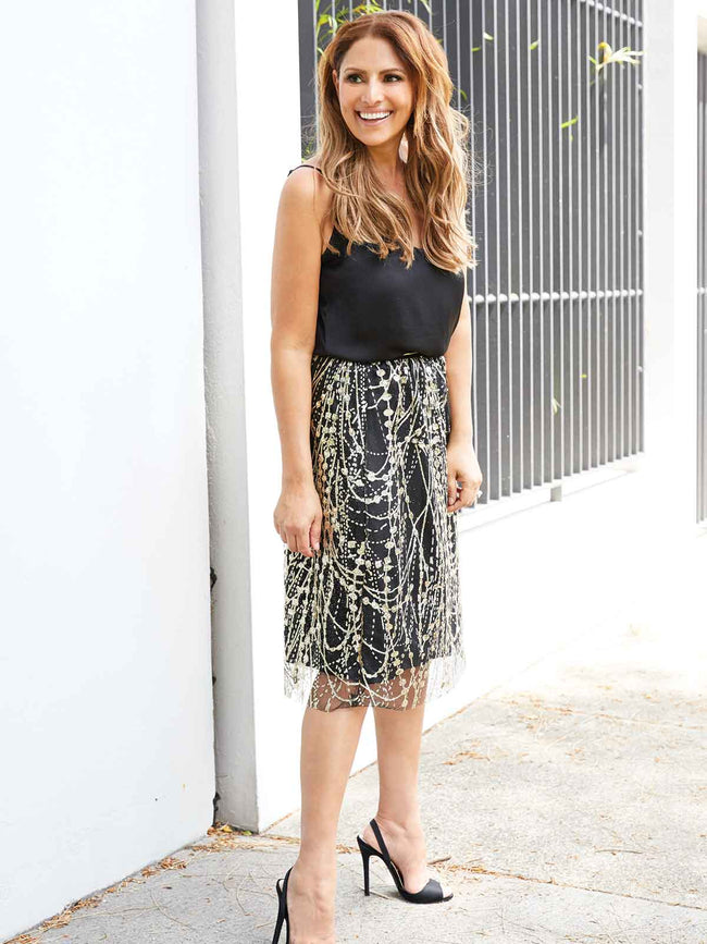 HOLLYWOOD NIGHTS LIMITED EDITION SKIRT-BLACK