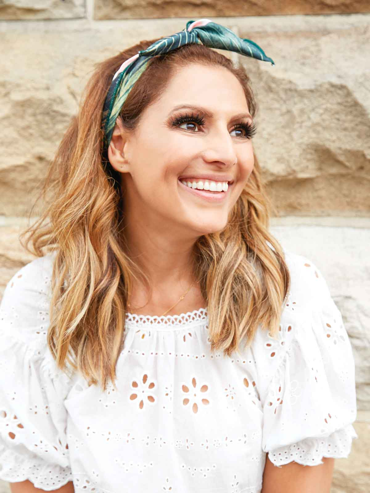 EVERYDAY GLAMOUR HEADBAND - PALM PRINT