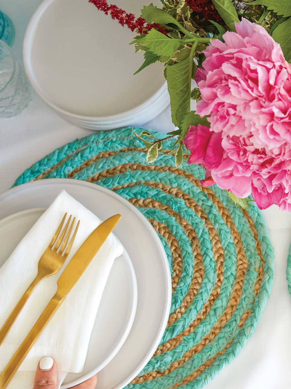 MALIBU WOVEN PLACEMATS (SET OF 4) - MINT