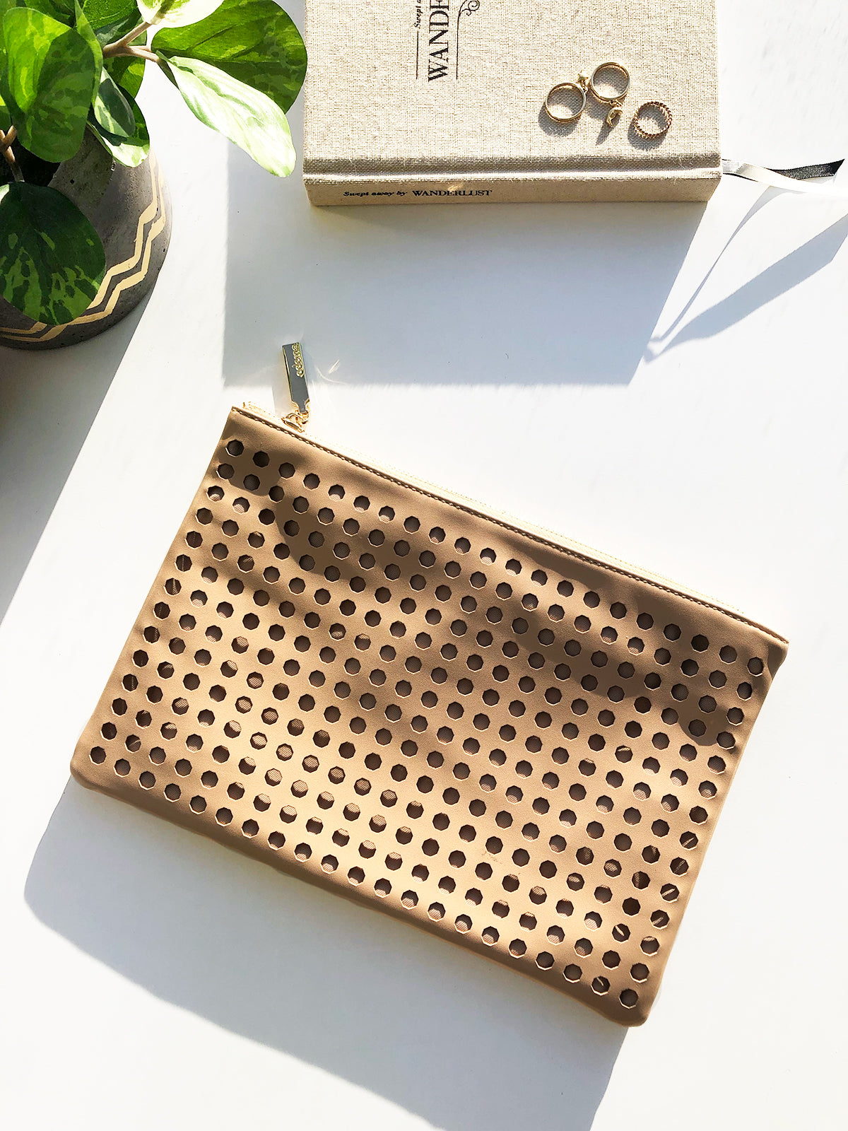 BELLE de JOUR PERFORATED CLUTCH