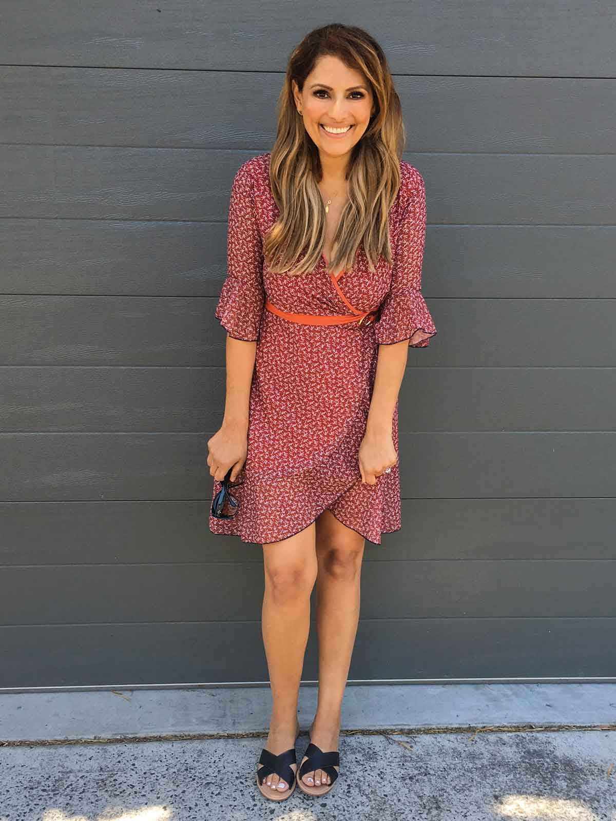 HAMPTONS HOLIDAY FLORAL DRESS