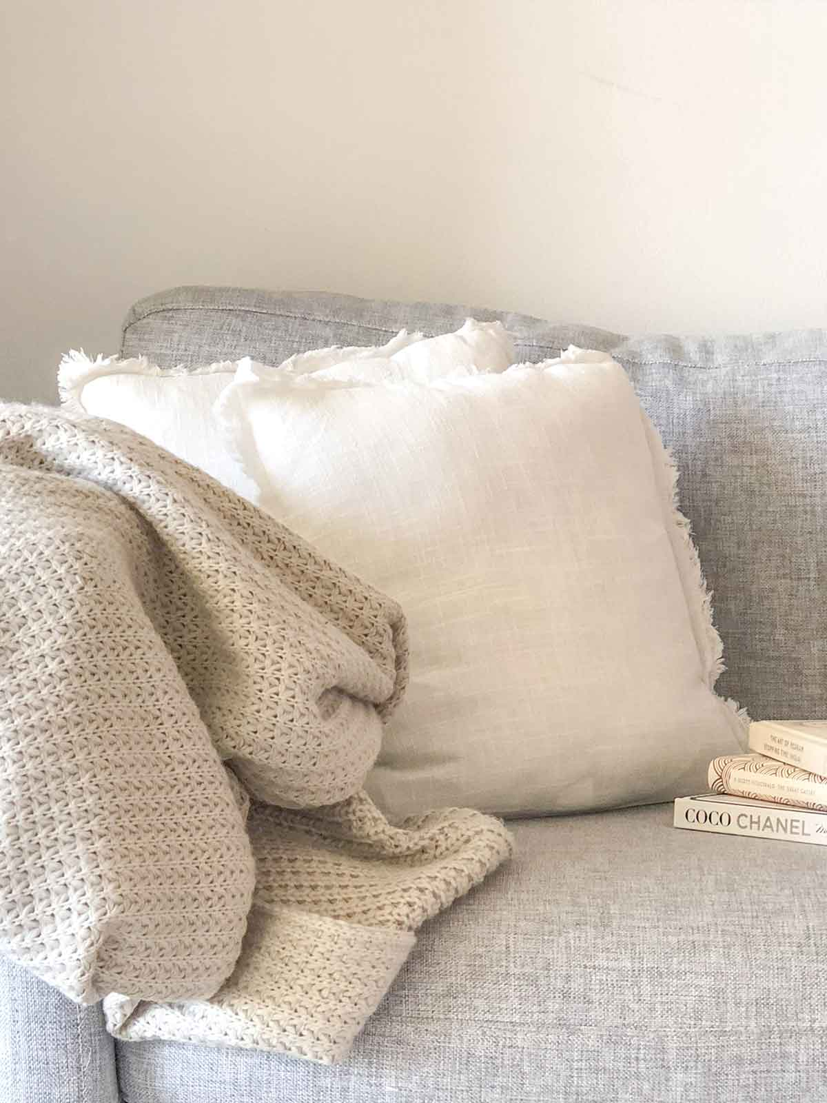 AMALFI COASTAL CUSHIONS - WHITE