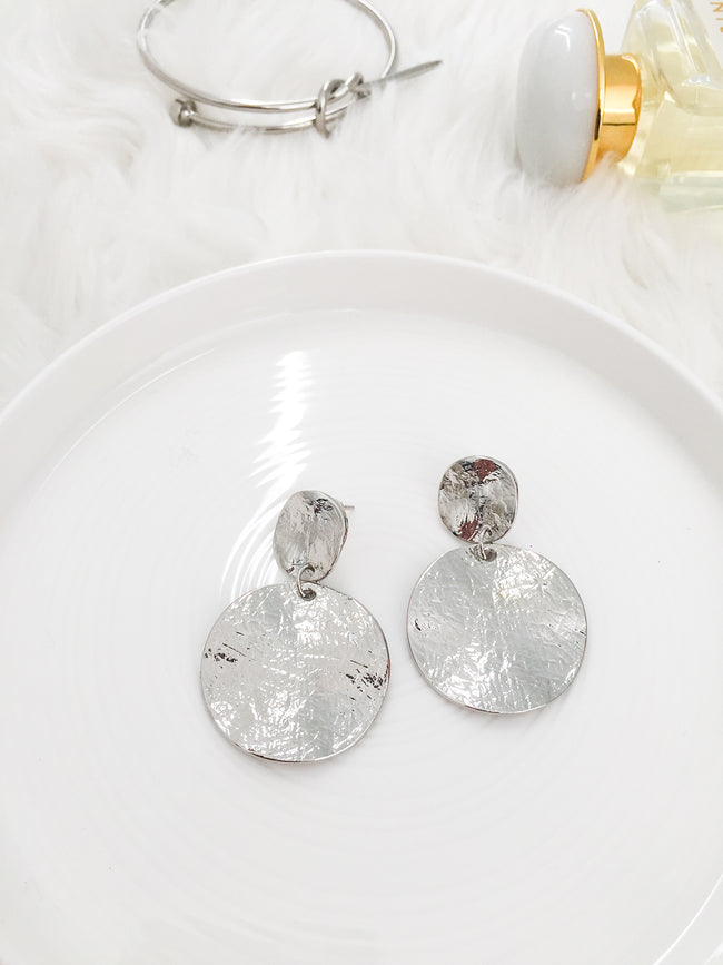 NIGHT AFTER NIGHT STATEMENT EARRINGS-SILVER