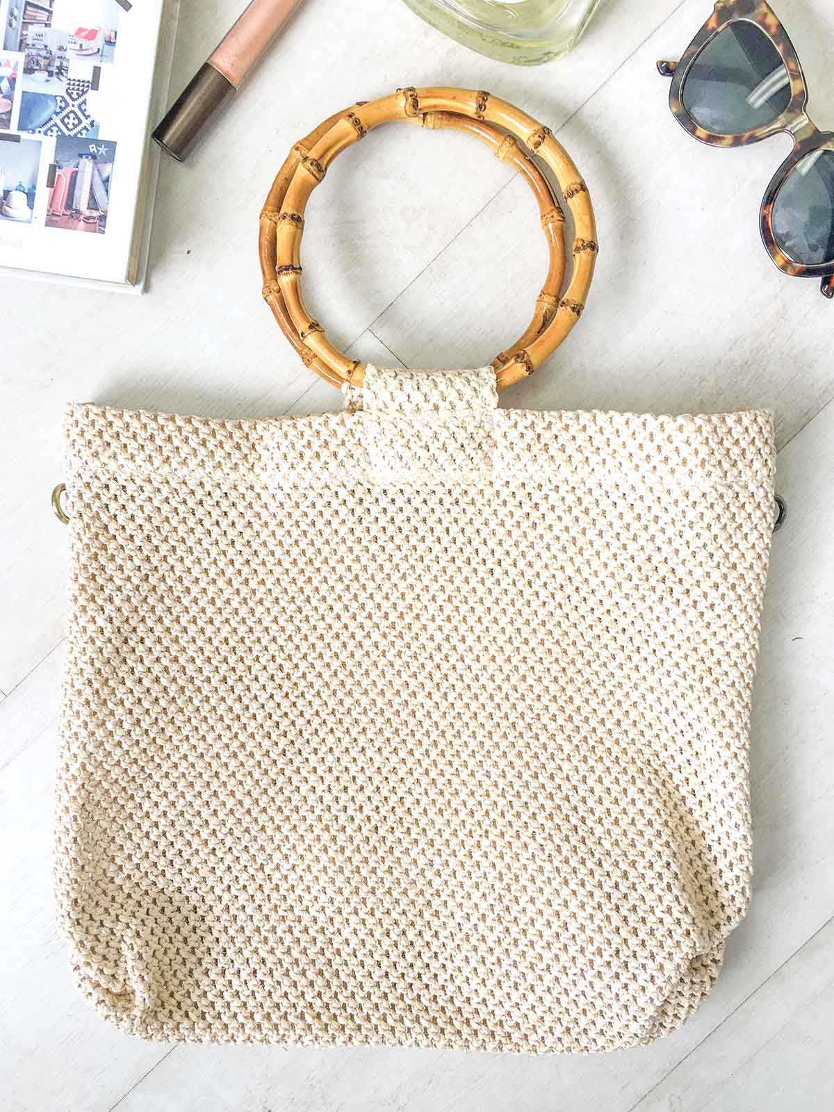 GYPSY COLLECTIVE BAMBOO HANDLE TOTE