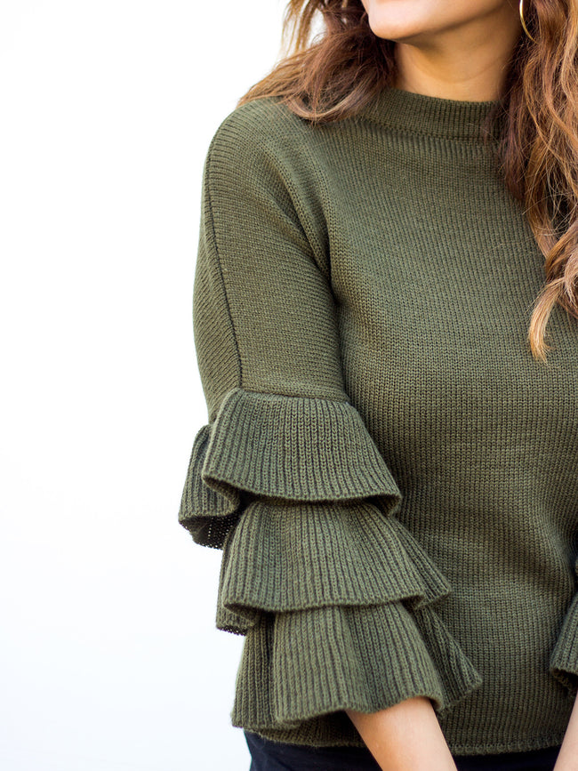 LE PARIS LUXE RUFFLE KNIT